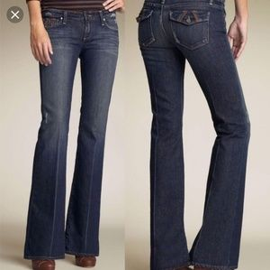 Paige premium denim fairfax jeans leather details